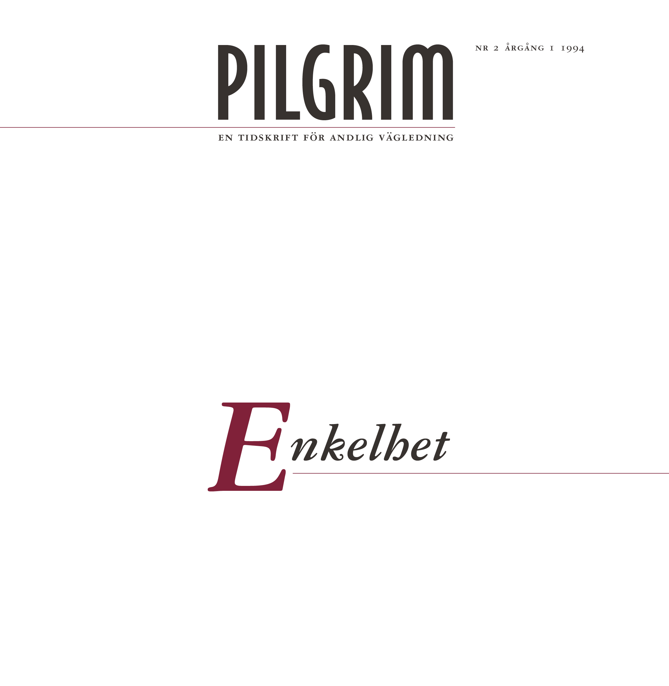 Pilgrim frams 1994-2