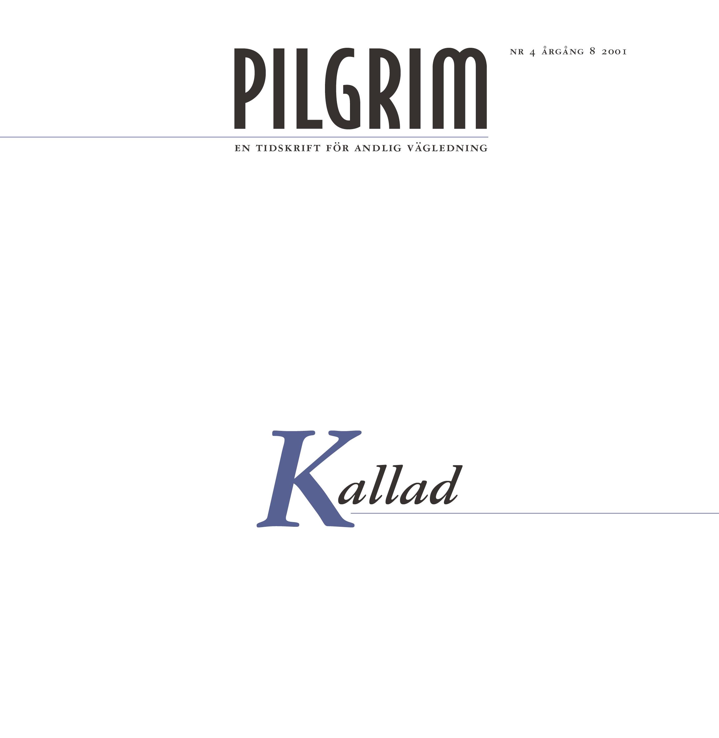 Pilgrim frams 2001-4