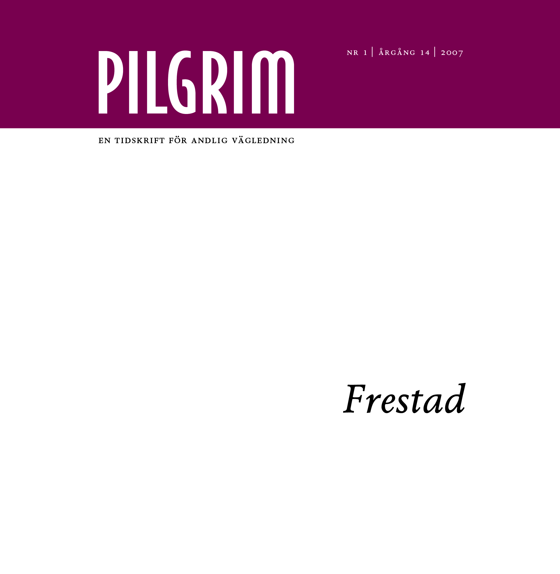Pilgrim frams 2007-1