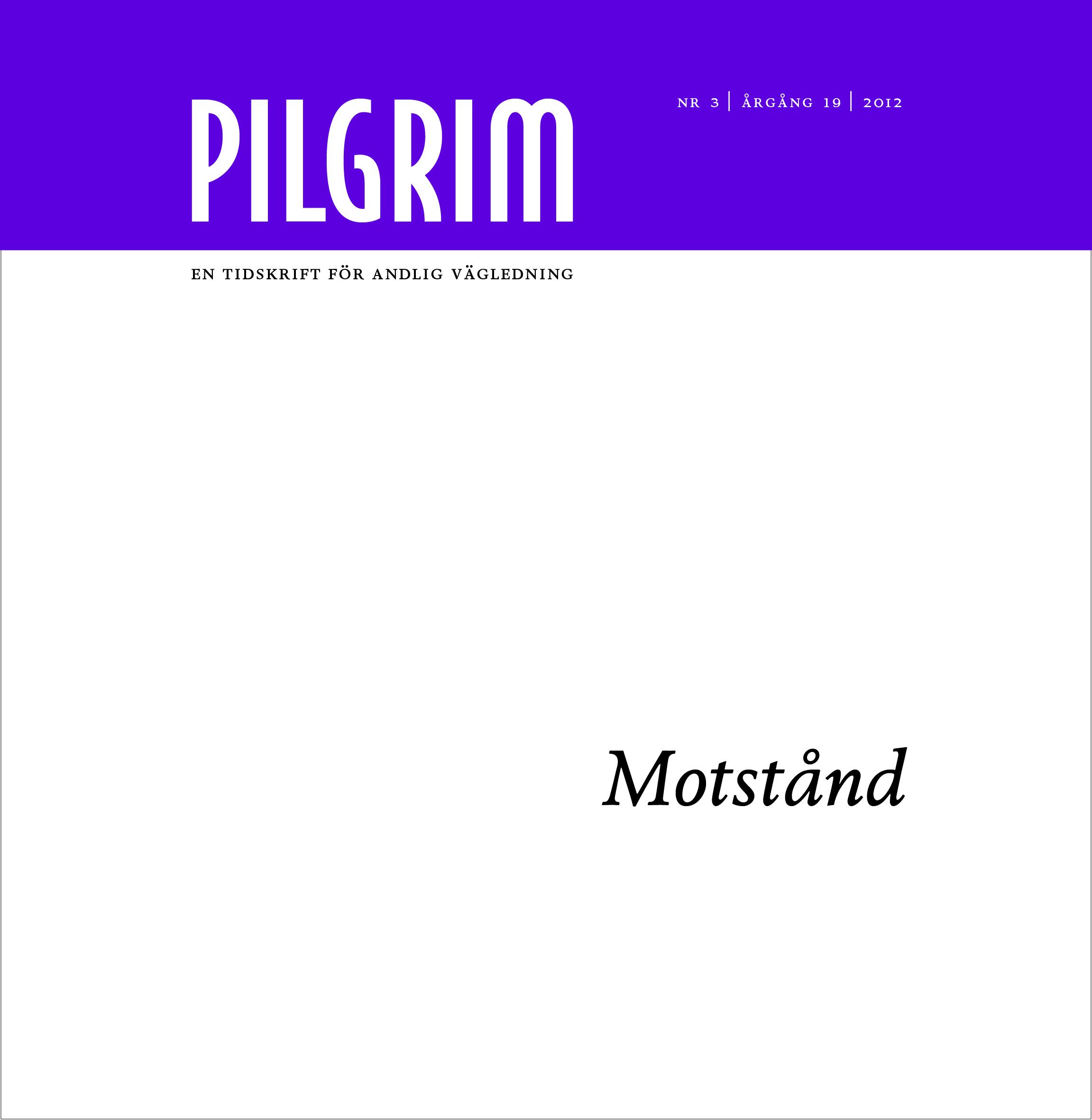 Pilgrim frams 2012-3